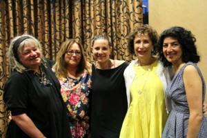 Food Talks Vol 8 Speakers (from left to right) Karan Barnaby, Angie Quaale, Merri Schwartz, Susan Mendelson and Meeru Dhaliwala